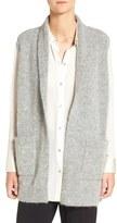 Eileen Fisher Women's Plush Melange Knit Shawl Collar Vest