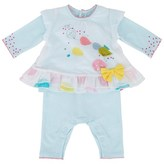 Catimini Footless Babygrow with Voile Printed Tunic