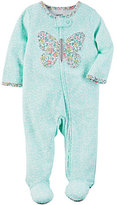 Carter's Baby Girl Print Embroidered Sleep & Play
