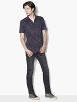 John Varvatos Short Sleeve Patterned Shirt