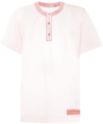 Heron Preston Sheer Collarless Polo Shirt