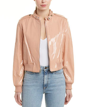 Alice + Olivia Nixon Patent Leather Jacket