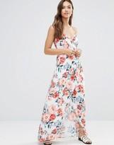MinkPink Mink Pink Little Blooms Wrap Front Maxi Dress