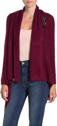 Sofia Cashmere Cashmere Windowpane Toggle Cardigan