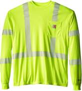 Carhartt Men's Big & Tall High Vis Force High Visibility Long Sleeve Class 3 Tee
