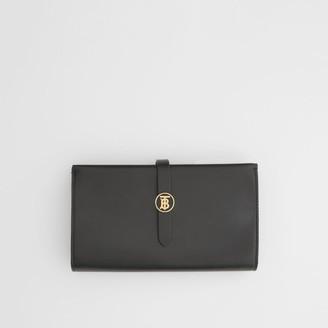 Burberry Monogram Motif Leather Folding Wallet