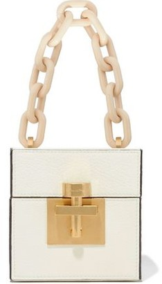 Oscar de la Renta Alibi Cube Textured-leather Tote