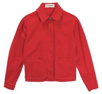 L.F. Markey Red Marlo Jacket - cotton | red | 10 - Red/Red