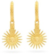 Versace Sun-drop Hoop Earrings - Womens - Gold