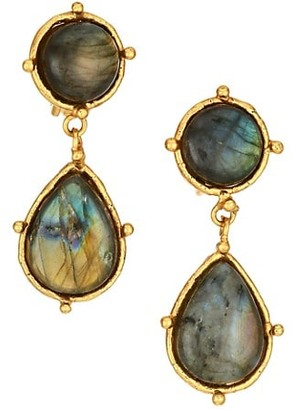 Sylvia Toledano Intemporels 22K Yellow Goldplated & Labradorite Drop Earrings