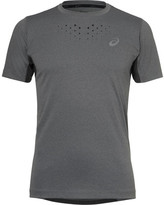 Asics Stride Jersey And Mesh T-shirt - Gray