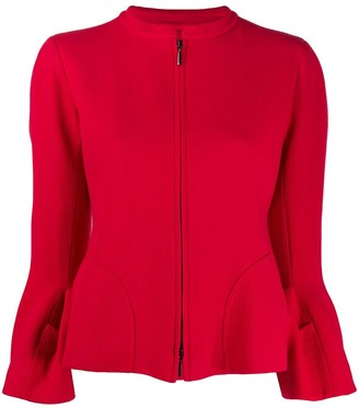 Emporio Armani Zipped Fitted Jacket