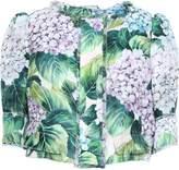 Dolce & Gabbana Cropped Floral-print Silk-blend Organza Jacket