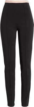 Gucci Logo Waist Stretch Jersey Leggings