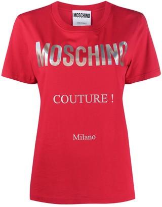 Moschino logo print T-shirt