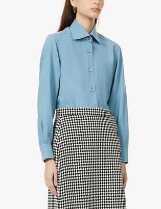 Giuliva Heritage Collection Elvira regular-fit silk shirt