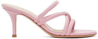 Gianvito Rossi Pink Criss-Cross 70 Heeled Sandals