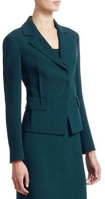 Akris Punto Crepe Waist Seam Lapel Collar Jacket