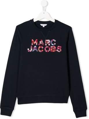 Little Marc Jacobs TEEN embellished logo sweatshirt