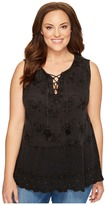 Lucky Brand Plus Size Washed Studded Tank Top