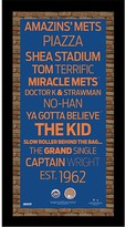Steiner Sports New York Mets Subway Sign Wall Art