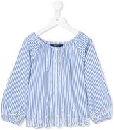 Ralph Lauren striped smocked top