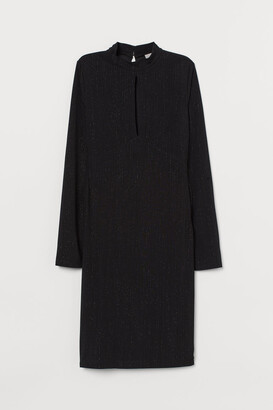 H&M Glittery Jersey Dress - Black