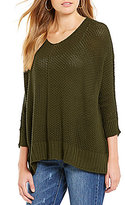GB Slouchy V-Neck Sweater