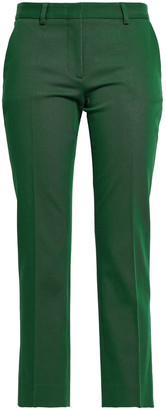 Piazza Sempione Cropped Cotton-blend Twill Straight-leg Pants