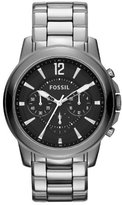 Fossil Men's Grant CE5016 Silver Stainless-Steel Quartz Watch with Dial