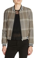 Maje Women's Plaid Bomber Jacket