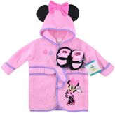 Disney Size 0-6M Minnie 2-Piece Terry Bathrobe and Booties Set