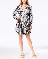 Bar III Printed Wrap Dress, Created for Macy's