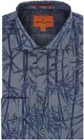 Simon Carter Men's Chambray Bamboo Print Harrison Shirt