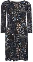 Dorothy Perkins Blue Ditsy Fluted Dress