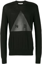 McQ by Alexander McQueen graphic print knitted jumper - men - Polyester/Wool - S