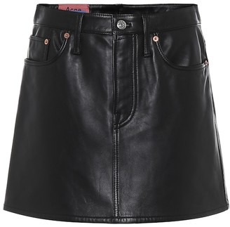 Acne Studios Leather miniskirt
