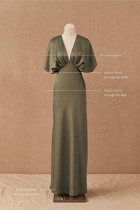 BHLDN Leila Satin Charmeuse Maxi Dress