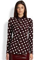 Burberry Silk Heart Print Shirt
