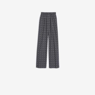 Balenciaga Oversize Pants in black and white checked poplin