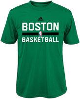adidas Boys' Boston Celtics Practice Wear Graphic T-Shirt