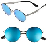 Ray-Ban 'Highstreet' 51mm Round Sunglasses