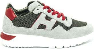Hogan Interactive Sneakers In Grey Suede