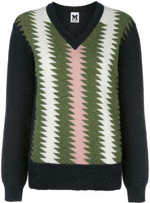 M Missoni zigzag knit sweater