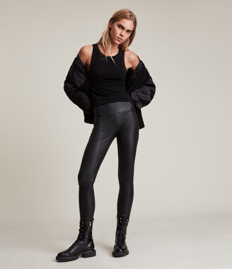AllSaints Cora High-Rise Leather Leggings