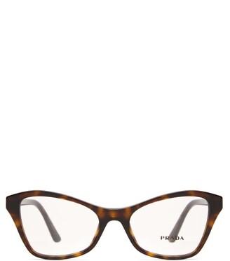 Prada Cat-eye Acetate Glasses - Womens - Tortoiseshell