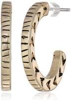 The Sak Small Etched C Hoop Earrings