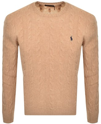 Ralph Lauren Cable Knit Jumper Beige