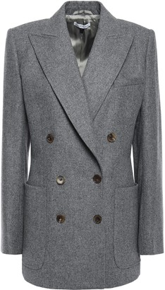 Bella Freud Double-breasted Melange Brushed Wool-felt Blazer