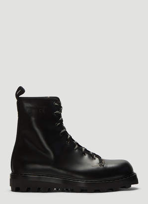 Oamc Exit Leather Boots in Black